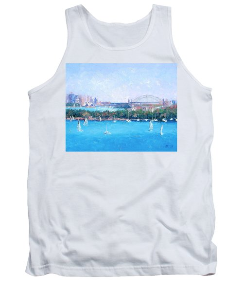 Sydney Harbour And The Opera House By Jan Matson Tank Top