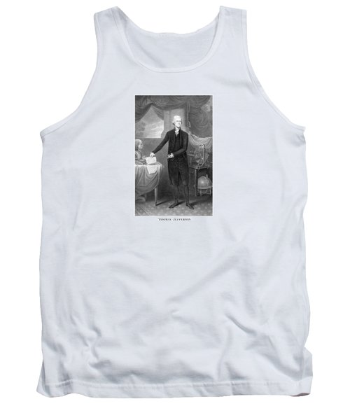 Thomas Jefferson Tank Top by War Is Hell Store