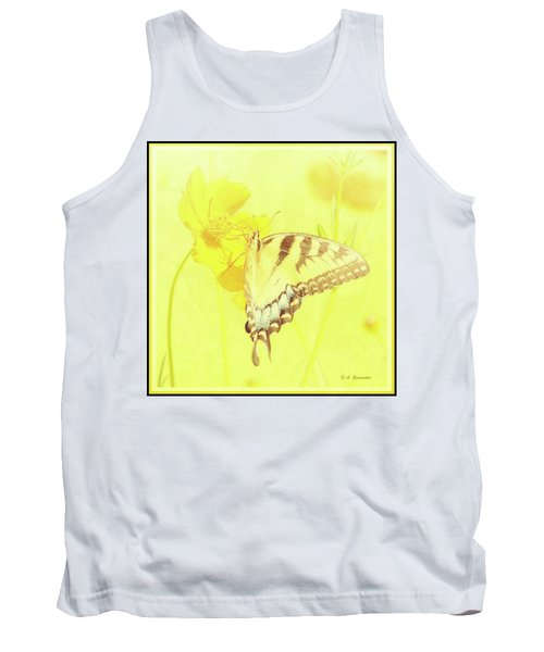Tiger Swallowtail Butterfly On Cosmos Flower Tank Top