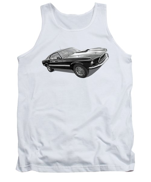 69 Mach1 In Black And White Tank Top by Gill Billington
