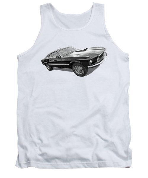 69 Mach1 In Black And White Tank Top
