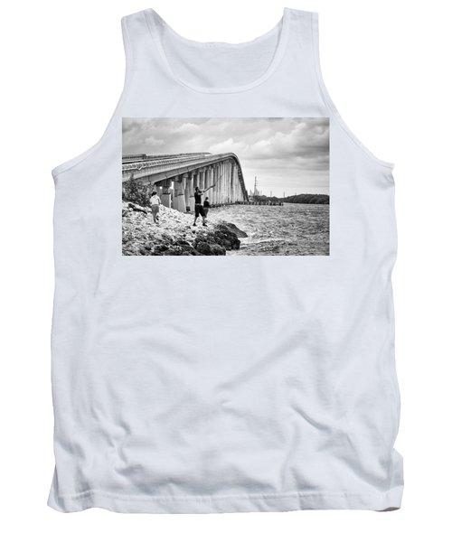 7 Mile Bridge B_w Tank Top by John McArthur