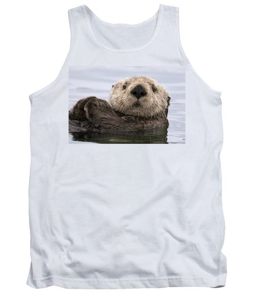 Sea Otter Elkhorn Slough Monterey Bay Tank Top by Sebastian Kennerknecht