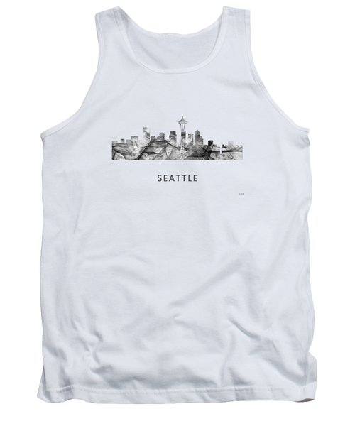 Seattle Washington Skyline Tank Top