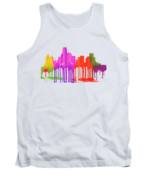 Dallas Texas Skyline Tank Top by Marlene Watson