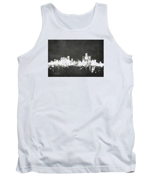 Detroit Michigan Skyline Tank Top