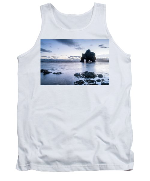 Dinosaur Rock Beach In Iceland Tank Top