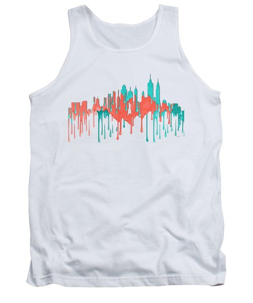 New York New York Skyline Tank Top by Marlene Watson