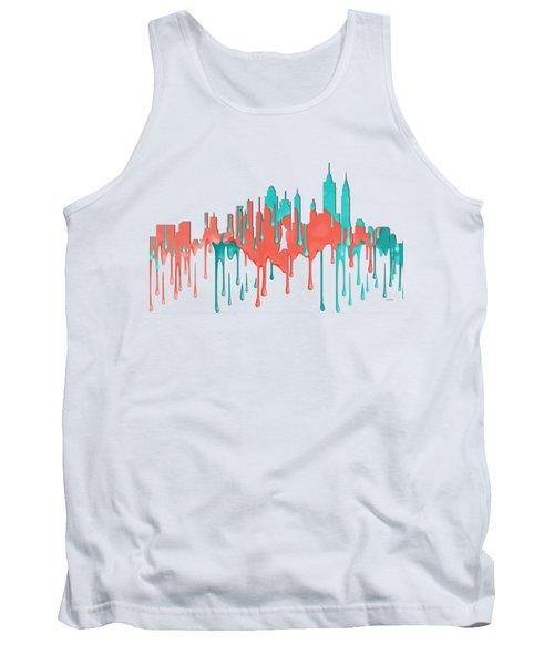 New York New York Skyline Tank Top