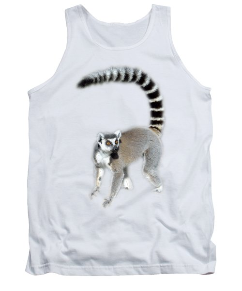 Tank Top featuring the photograph Ring Tailed Lemur by George Atsametakis