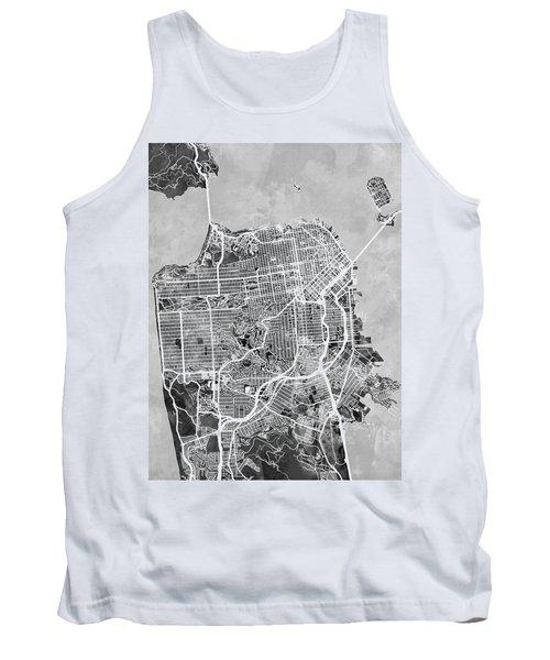San Francisco City Street Map Tank Top