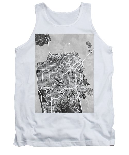 San Francisco City Street Map Tank Top