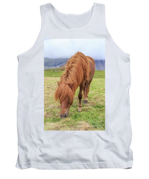 A Beautiful Red Mane On An Icelandic Horse Tank Top