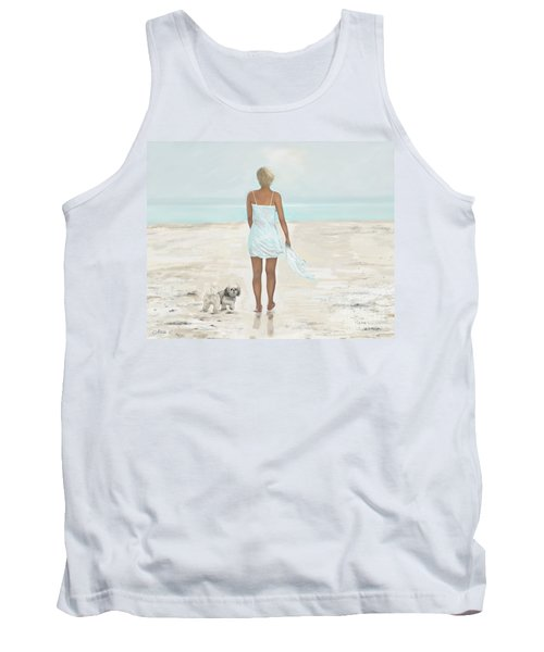 Tank Top featuring the painting A Beautiful Walk by Leslie Allen