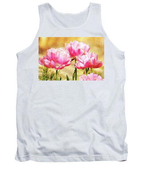 A Bouquet Of Tulips Tank Top by Trina Ansel
