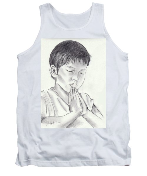 A Child's Prayer Tank Top by John Keaton