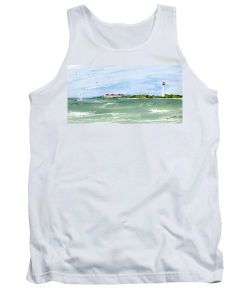 A Clear Day At Cape May Point  Tank Top