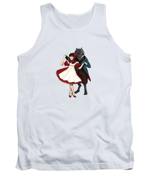 A Dangerous Dance Red Hood And The Wolf Art Print Tank Top