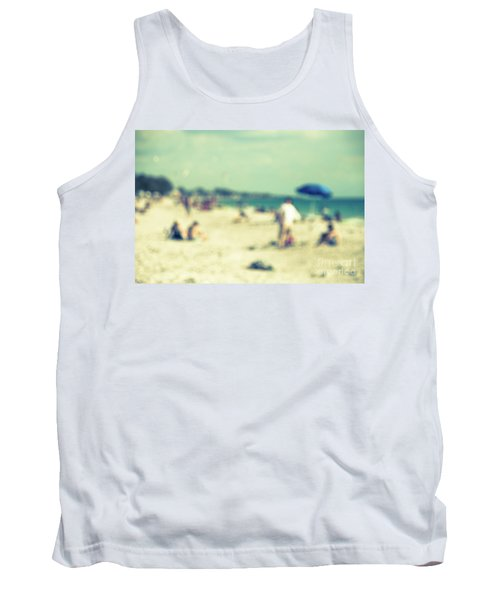Tank Top featuring the photograph a day at the beach I by Hannes Cmarits