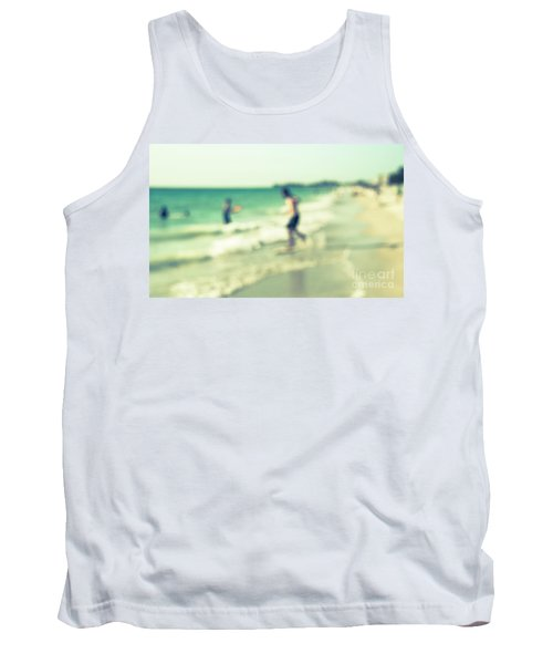 Tank Top featuring the photograph a day at the beach III by Hannes Cmarits