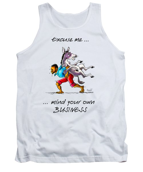 Tank Top featuring the drawing A Different Approach by Anthony Mwangi