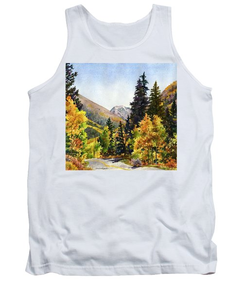 Tank Top featuring the painting A Drive In The Mountains by Anne Gifford