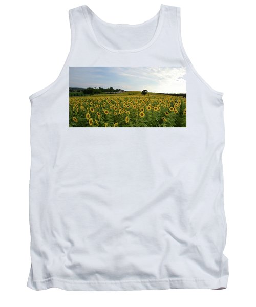 A Field Of Sunflowers Tank Top by Janice Adomeit
