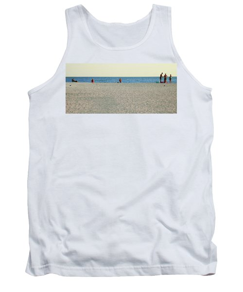 A Fine Day At The Beach Tank Top by Ginny Schmidt