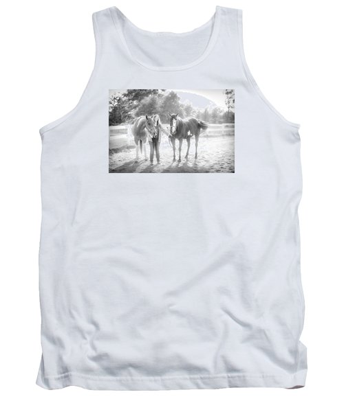 A Girl With Horses Tank Top