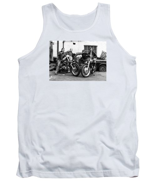Tank Top featuring the photograph A Group Of Women Associated With The Hells Angels, 1973. by Lawrence Christopher