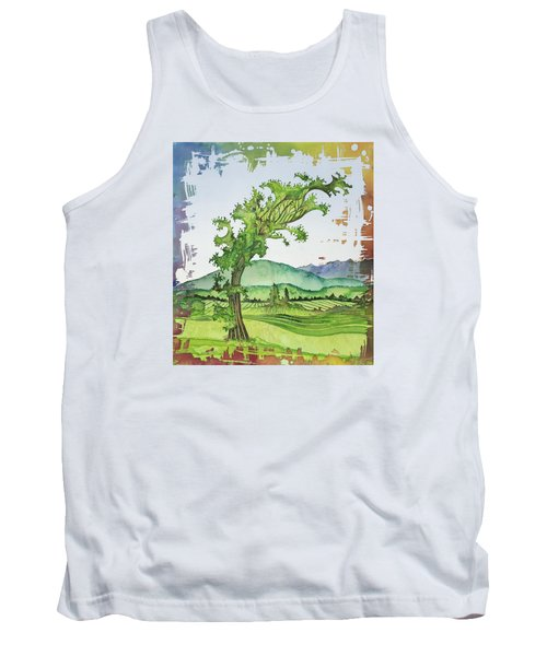 A Kale Leaf Visits The Country Tank Top by Carolyn Doe