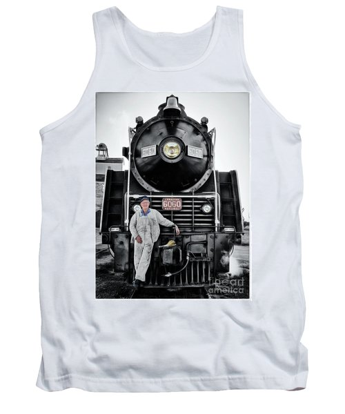 A Man And His Locomotive Tank Top