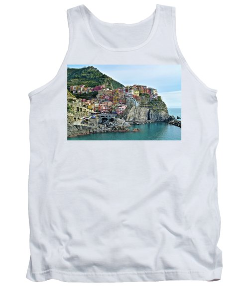 Tank Top featuring the photograph A Manarola Morning by Frozen in Time Fine Art Photography