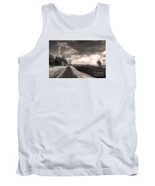 Tank Top featuring the photograph A Mist Over The Missouri Bottoms by William Fields
