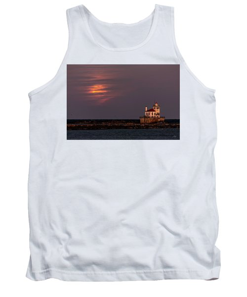 Tank Top featuring the photograph A Moonsetting Sunrise by Everet Regal