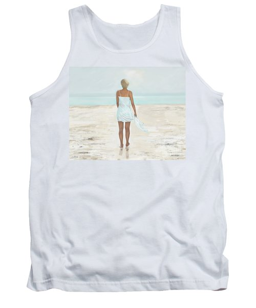 Tank Top featuring the painting A Natural Beauty by Leslie Allen