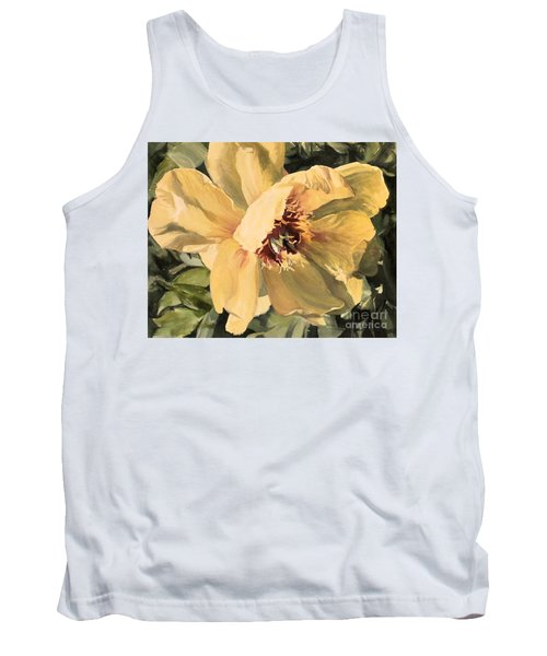 Tank Top featuring the painting A Peony For Miggie by Laurie Rohner