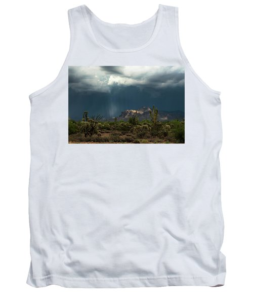 Tank Top featuring the photograph A Rainy Evening In The Superstitions  by Saija Lehtonen