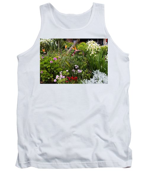 Tank Top featuring the photograph A Riot Of Flowers by Lorraine Devon Wilke