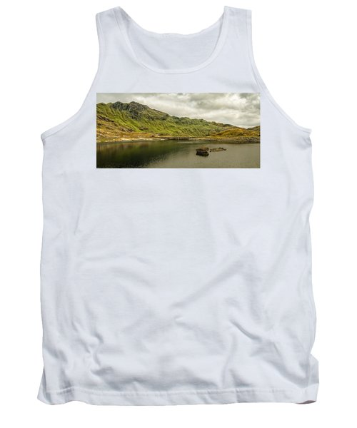 Tank Top featuring the photograph A Rock And A Hard Place by Nick Bywater
