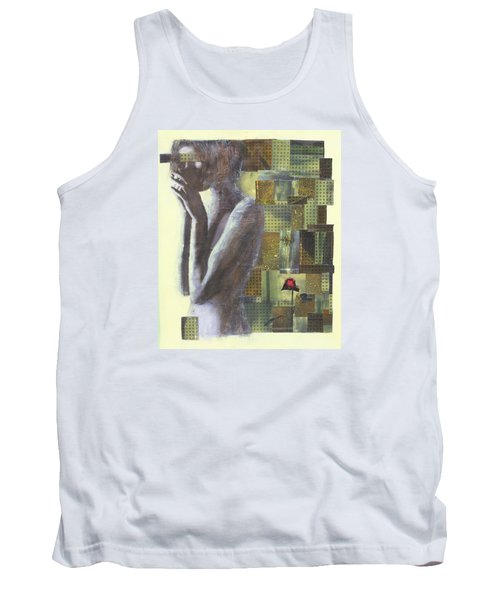 Tank Top featuring the painting A Rose By Any Another Name by Geraldine Gracia