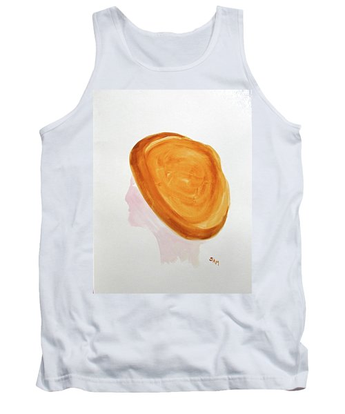 Tank Top featuring the painting A Simple Hat by Sandy McIntire