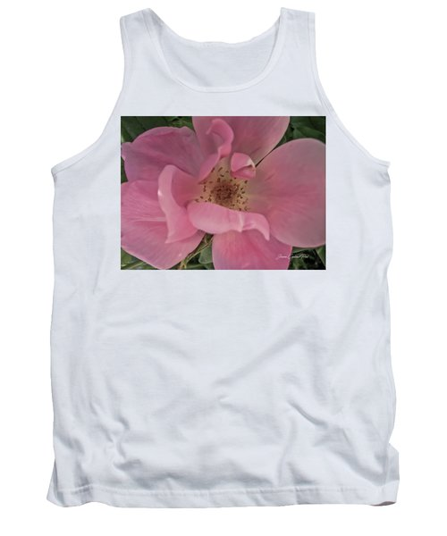 Tank Top featuring the photograph A Single Pink Rose by Joann Copeland-Paul