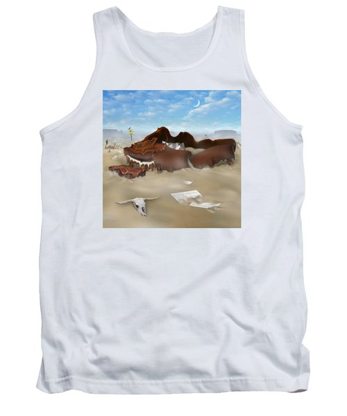 A Slow Death In Piano Valley Sq Tank Top