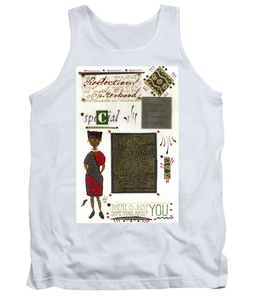 Tank Top featuring the mixed media A Special Friend by Angela L Walker