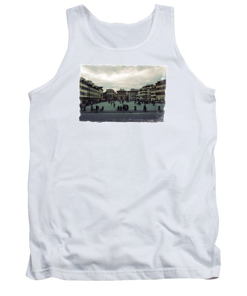A Square In Florence Italy Tank Top by Wade Brooks