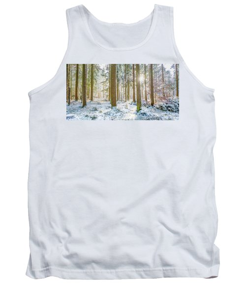 Tank Top featuring the photograph A Sunny Day In The Winter Forest by Hannes Cmarits