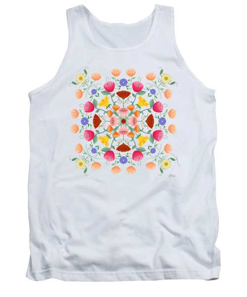 A Symphony Of Dancing Floral Delights Tank Top