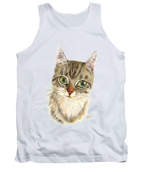 A Thinking Cat Tank Top