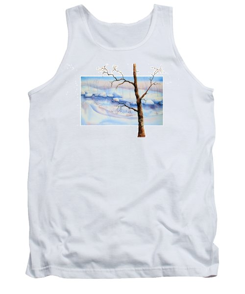 A Tree In Another Dimension Tank Top by Debbie Lewis